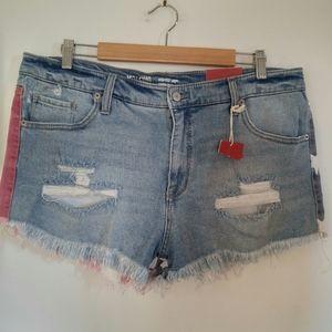 Mossimo USA High Waisted Distressed Frayed Shorts